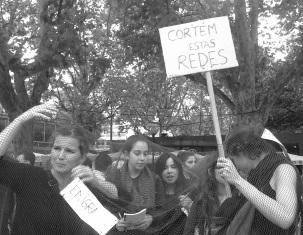 Estudiantes del TEUC en la Plaza de la República. 26_10_13